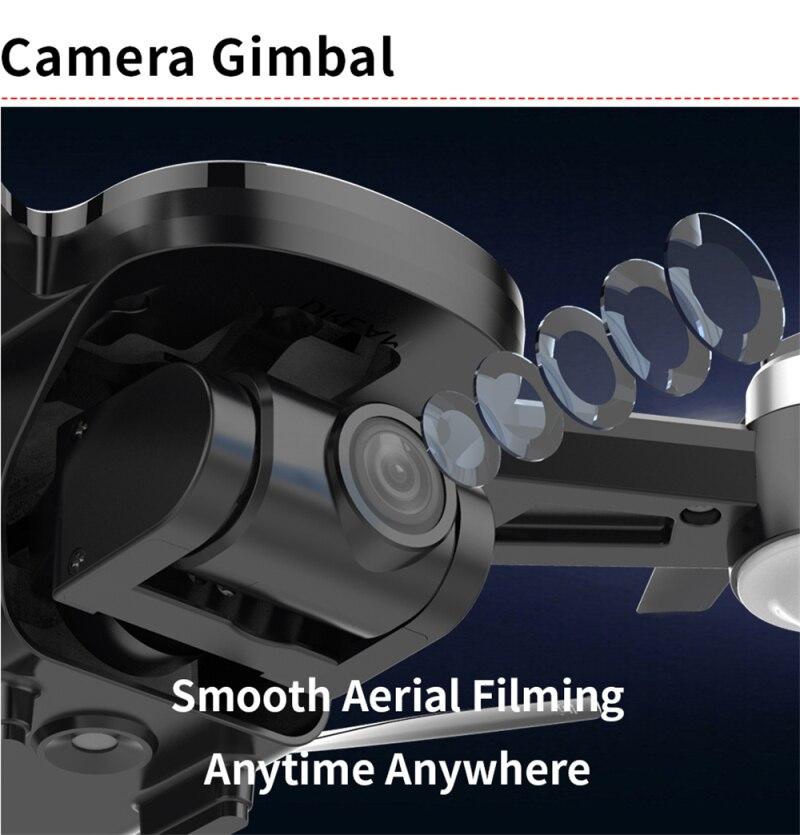 Wifi fpv com 4k hd cardan câmera