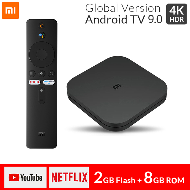 Original Xiaomi Mi TV BOX S Smart 4K Ultra HD 2G 8G Android 9.0 WIFI GoogleCast Netflix Media Player Set top Box S Voice Control