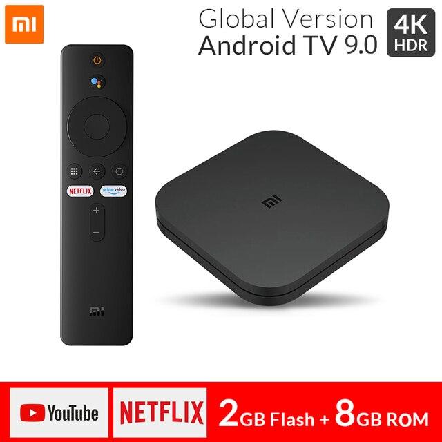 Originale Xiaomi Mi TV BOX S Smart 4K Ultra HD 2G 8G Android 9.0 WIFI GoogleCast Netflix media Player Set top Box S di Controllo Vocale