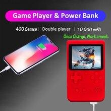 المدمج في 400 في 1 الألعاب الكلاسيكية قوة البنك الرجعية المحمولة لعبة فيديو صغيرة وحدة التحكم 8 بت جيب يده لعبة لاعب أفضل هدية