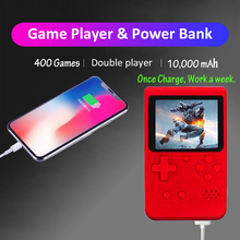 Built in 400 in 1 Classic Games  +Power Bank Retro Portable Mini Video Game Console 8 Bit Pocket Handheld Game Player Best Gift