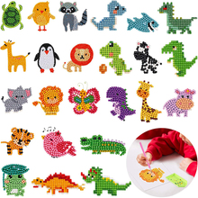 24 Pieces 5D DIY Diamond Painting Kits Paint by Numbers Kits Animal Diamond Stickers for Kids and Adult Beginners Crafts Making david hall plastic lace crafts for beginners