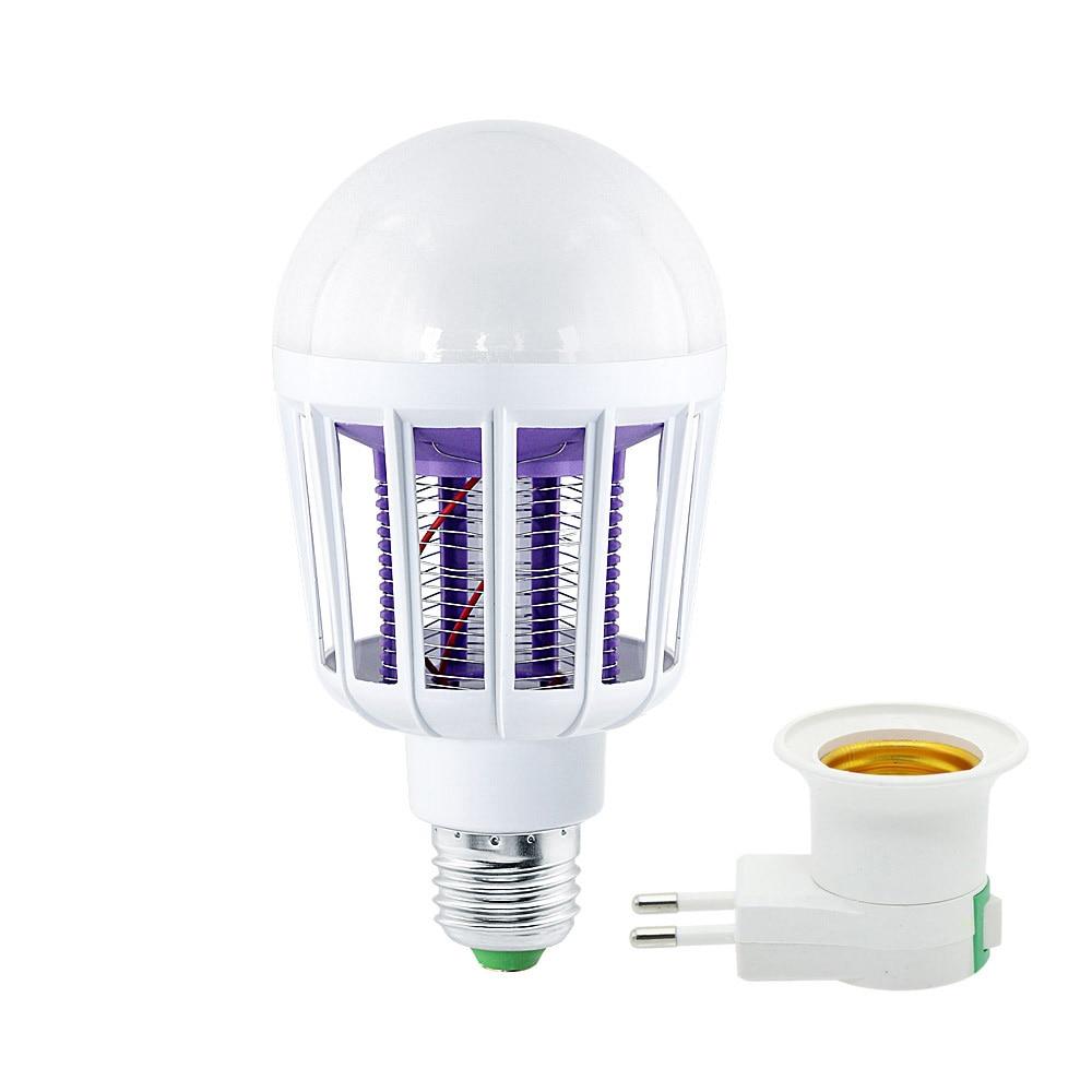 AC 220V 110V Electronic Mosquito Killer Lamp E27 9W LED Light Bulbs Home Lighting Bedroom Anti-mosquito Lights