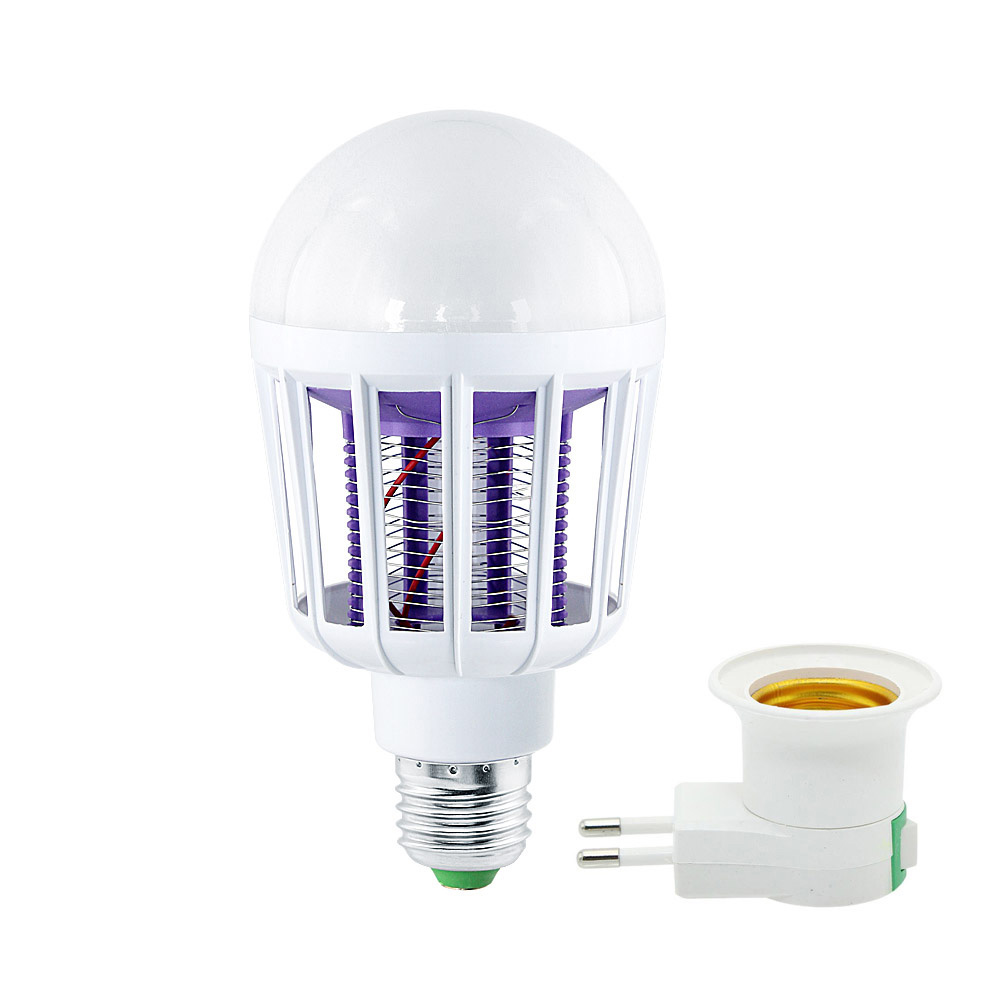 AC 220V Electronic Mosquito Killer Lamp E27 9W LED Light Bulbs Home Lighting Bedroom anti-mosquito lights image