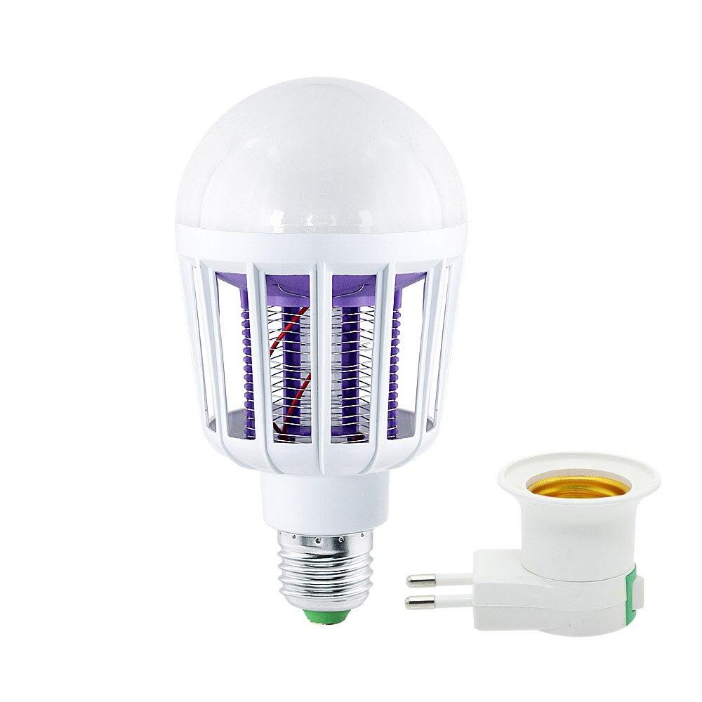 Ac 220 v 전자 모기 킬러 램프 e27 9 w led 전구 홈 조명 침실 모기 방지 조명