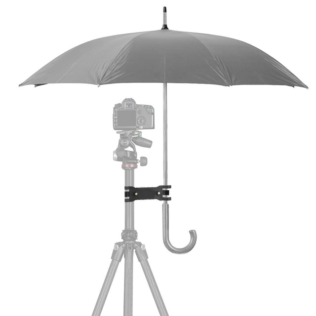 Photography Accessory Durable Clip Bracket Camera Tripod Photo Stand Portable Stable Fixation Mini Umbrella Holder Outdoor Mount