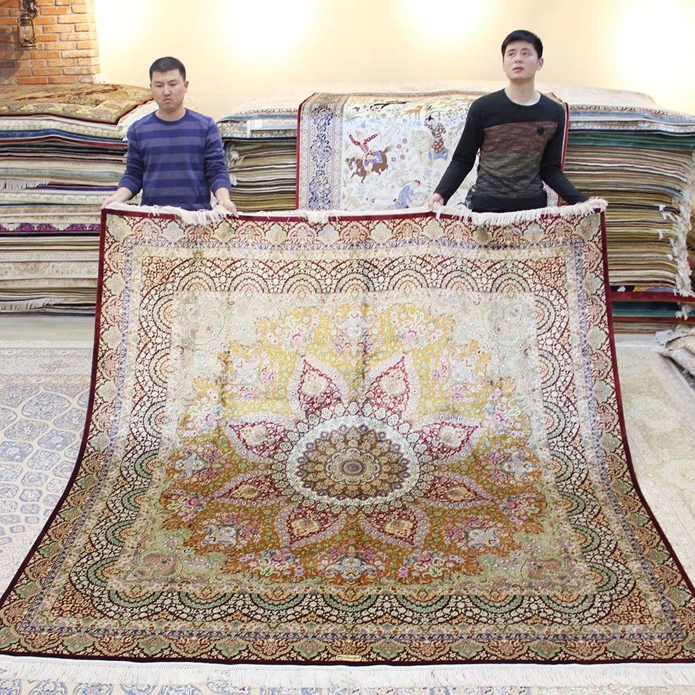 Yilong 8 X8 Square Persian Silk Rug