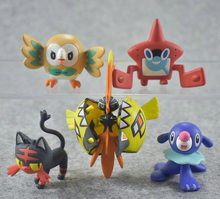 "Nieuwe 50 Pcs Tapu Koko Litten Popplio Rotom Rowlet 1.5 ""4 Cm Pvc Action Figure(China)"