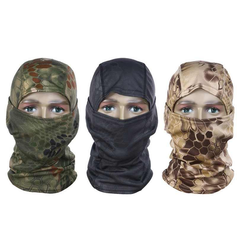 Camouflage Fietsen Volgelaatsmasker Tactical Masker Ademend Bike Ski Masker Jacht Militaire Airsoft Outdoor Hood Cap