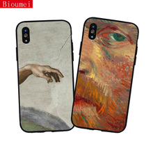 Bioumei Van Gogh etc. oil paintings case for iPhone XS XR Max X 5 6 6S 7 8 Plus soft back cover shell 79