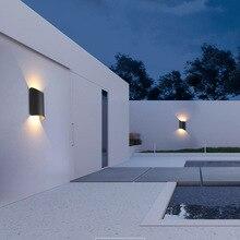 Led Outdoor Wall Light Modern Waterproof 85 - 265V IP65 Balcony Garden Porch Home Lamp Aluminium