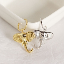 New 925 Sterling Silver Big Ear Nose Elephant Long Earrings Exaggeration Drop for Women 2019 Jewelry