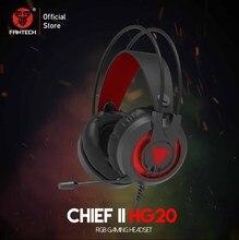 FANTECH HG20 3,5 MM Stecker RGB Gaming Headset Breite Volumen Einstellung Kopfhörer Mit Mikrofon Für PS4 PC Player