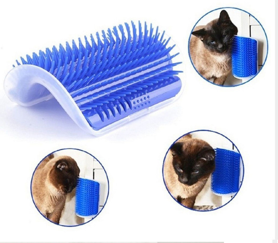 Yooap New Pet Brush Massage Cat Kitten Self Beauty With Cat Mint Pet Puppy Cat Scratcher Toy Fur Beauty