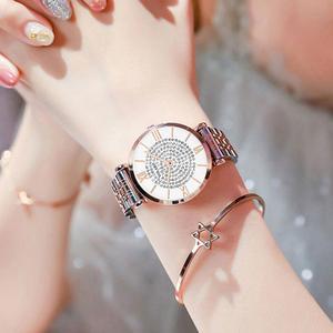 Image 2 - หรูหราคริสตัลผู้หญิงสร้อยข้อมือนาฬิกา 2019 แบรนด์ยอดสุภาพสตรีนาฬิกาเพชรกันน้ำนาฬิกา relogio femininozegarek damski