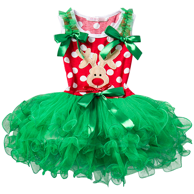 H7432bbd430d84fc7af133e358d24ae153 New Year Baby Girl Christmas Dress Girl's Merry Christmas Dress Children Kids Cotton Dot Dress Girls Tutu Santa Clus Costume
