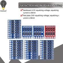3S 4S 5S 21V 4,2 V баланс Функция Защитная плата произведенная в 68mA 5S литийполимерное литийионное Батарея литий 18650 батареи сбалансированный 6S фот...