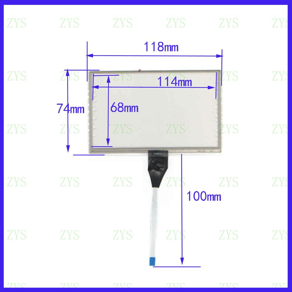 ZhiYuSun 120* 74mm 5inch 4 lines   resistive touch panel for Car DVD Industrial control 120*74