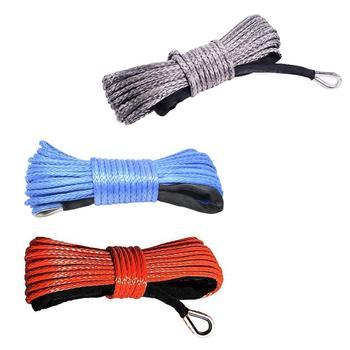 7700lbs kabestan elektryczny lina lina nylonowa o wysokiej wytrzymałości lina z włókna 6mm x 15m lina holownicza pasek holowniczy tanie i dobre opinie CN (pochodzenie) 15mm Polyethylene Liny holownicze 0 44kgkg