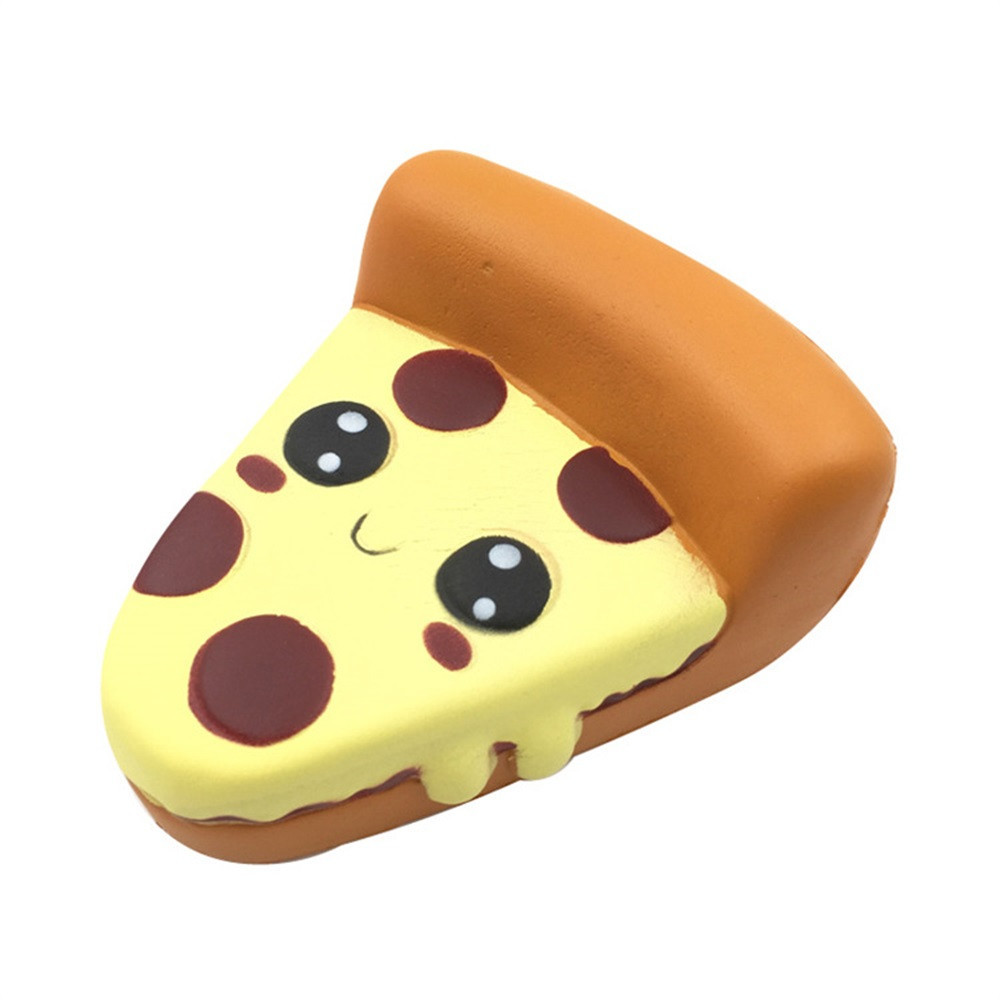 Funny Cartoon Pizza Charm Slow Rising Squeeze Stress Reliever Toys Inger Rehabilitation Training Props Antistress Kids Toys #B