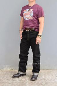 Image 5 - BOB DONG Schwarz Schwergewicht Selvage Denim 23 unzen Jeans Für Männer Regelmäßige Gerade Fit