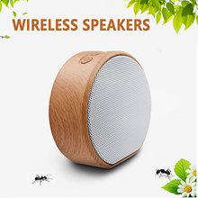Gosear, Mini Altavoz Bluetooth portátil, altavoz inalámbrico Vintage de grano de madera para cumpleaños, Navidad, regalo de Año Nuevo, altavoz sub