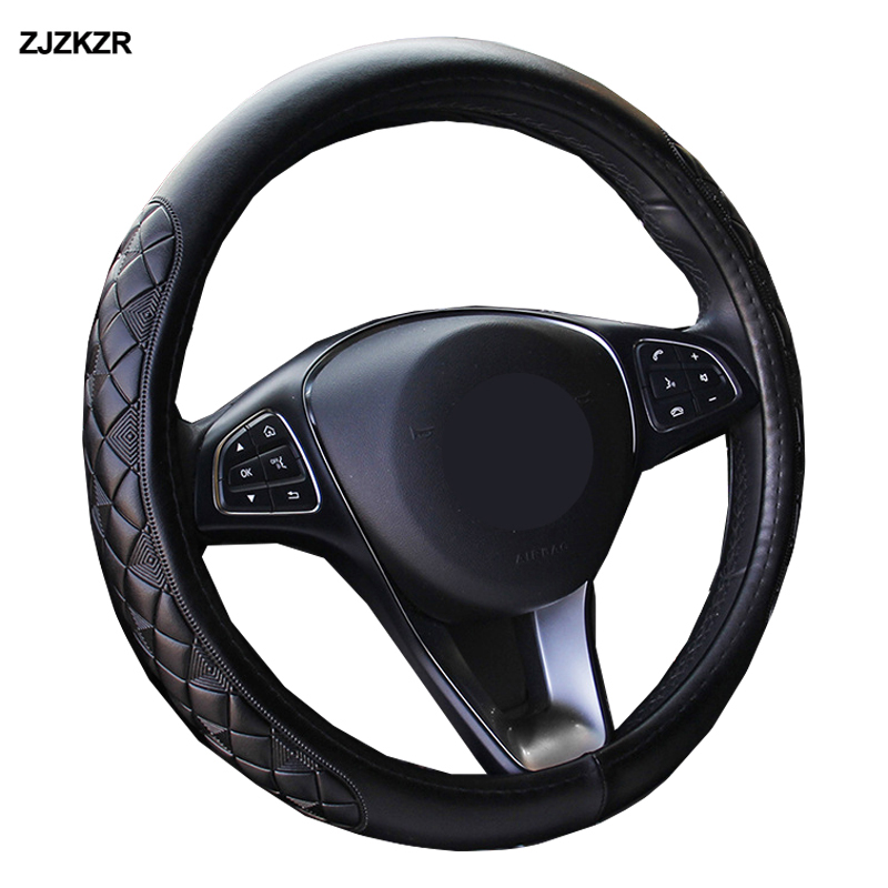 Оригинальная обложка рулевого колеса, диаметры 36, 38, 40, 42, 45, 47, 50 см, 3D противоскользящая, износостойкая, автомобильный Стайлинг