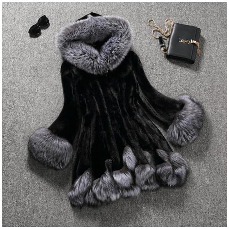 Plus rozmiar 10XL moda Fox płaszcz z prawdziwego futra gruby ciepły Fox kobiet płaszcze 2019 zima cała skóra futro naturalne elegancka kurtka kostium