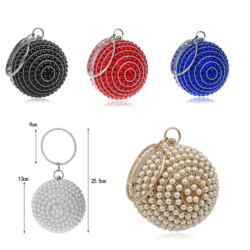 Image 3 - SEKUSA Ball Diamond Tassel Women Party Metal Crystal Clutches Evening  Wedding Bag Bridal Shoulder Handbag Wristlets ClutchClutches   -
