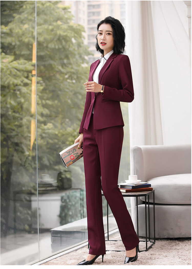 H74334f244c87444eb5547f079190f55dp - Autumn Business Casual Long Trousers Women Solid Black Blue Red Formal Pants Office Ladies Work Wear Straight Suit Pant 4XL