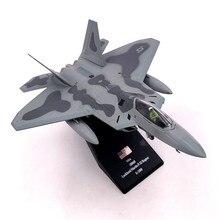 1/100 نموذج طائرة مقياس لعب الولايات المتحدة الأمريكية F 22 F22 رابتور مقاتلة ديكاست طائرة معدنية نموذج لعبة للأطفال هدية جمع شحن مجاني
