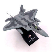 1/100 Scale Airplane Model Toys USA F 22 F22 Raptor Fighter Diecast Metal Plane Model Toy For Kids Gift Collection Free Shipping