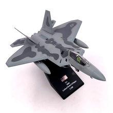 1/100 escala avião modelo brinquedos eua F-22 f22 raptor lutador diecast metal avião modelo de brinquedo para crianças presente coleção frete grátis
