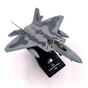 Image 1 - Modèle davion en métal moulé à léchelle 1/100, jouets USA F 22 F22, chasseur Raptor, jouet pour enfants, Collection cadeau, livraison gratuite