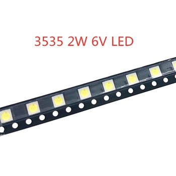 50-1000PCS 2W 6V 3V 1W 3535 SMD LED Replace LG Innotek LCD TV Back Light Beads TV Backlight Diode Repair Application image