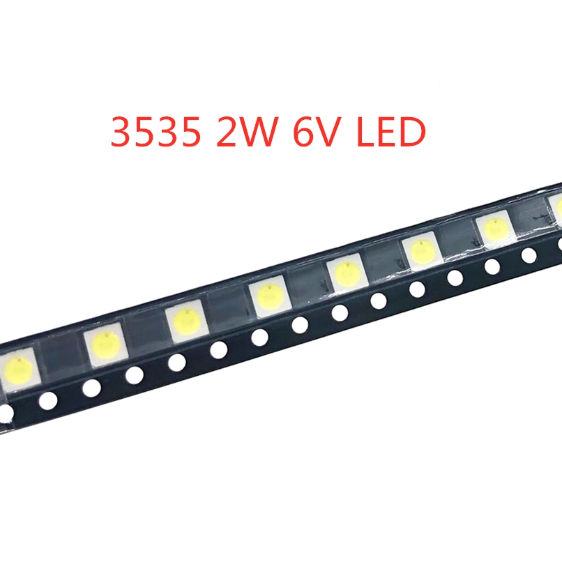 50-1000PCS 2W 6V <font><b>3V</b></font> <font><b>1W</b></font> 3535 <font><b>SMD</b></font> <font><b>LED</b></font> Replace <font><b>LG</b></font> Innotek LCD <font><b>TV</b></font> Back Light Beads <font><b>TV</b></font> Backlight Diode Repair Application image