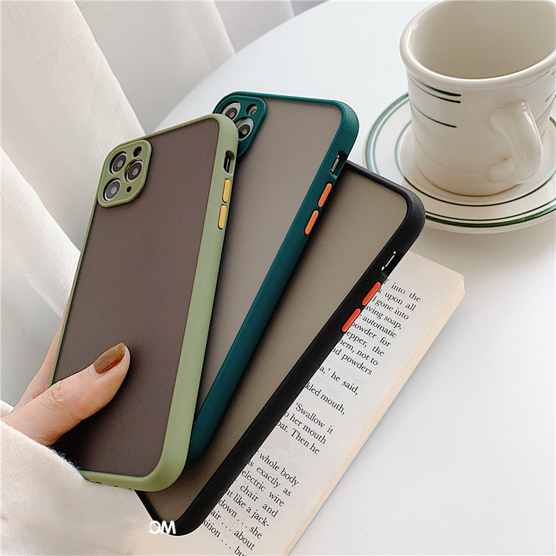 Matte Translucent Camera Protection Bumper Phone Cases For iPhone 11 11 Pro Max XR XS 13