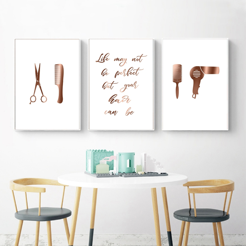 Hair Salon Decor Hair Quotes Posters And Prints Hairstylist Hairdresser Gift Wall Art Canvas Painting Pictures Decoration