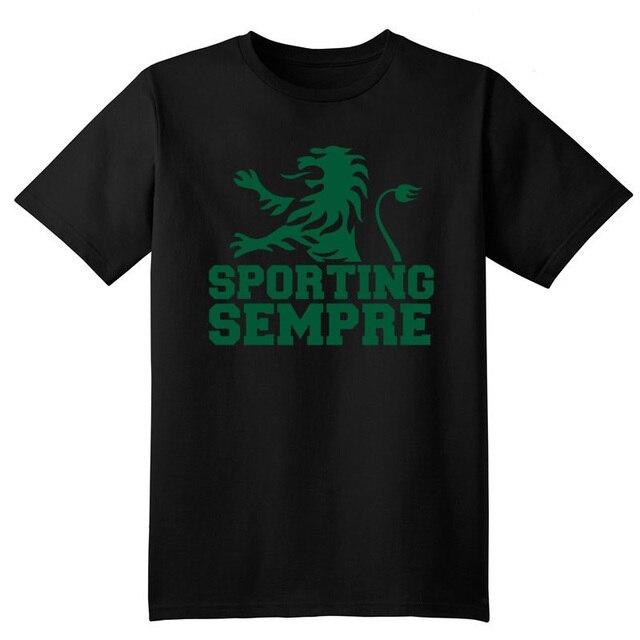 Portugal Sportting Lisbon club t shirt Camiseta Sporting Club de Portugal Lion fans T-shirt Ronaldo Figo camisetas hombre
