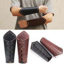 1PC Armband Leather Punk Wide Archery Arm Guard Viking Bracer Gauntlet Wristband Bracelet Wrist Sleeve