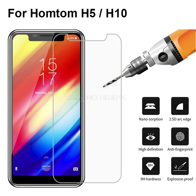 Tempered Glass For <font><b>HomTom</b></font> H5 H 5 Glass Screen Protector 2.5D 9H Premium Mobile Phone Front Film For <font><b>HomTom</b></font> H10 H <font><b>10</b></font> Case Glass ^ image