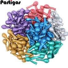 20/50 sztuk 5 cal Chrome metalowe lateksowe balony złota okrągłe metalowe balony Birthday Party pompowania powietrza Globos ślub dekory
