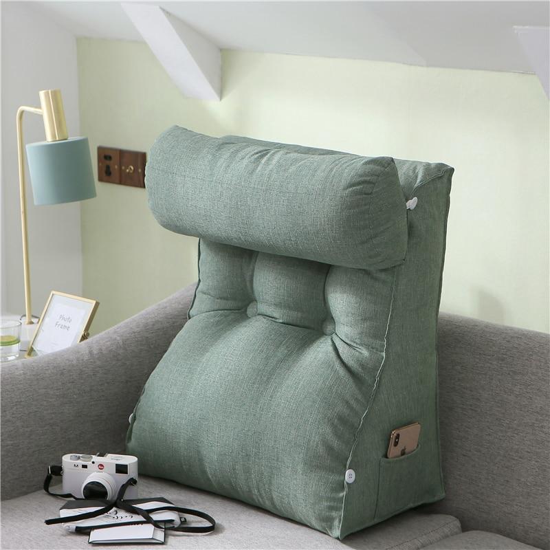Large Triangle Sofa Cushion Backrest Pillow Bed Waist Neck