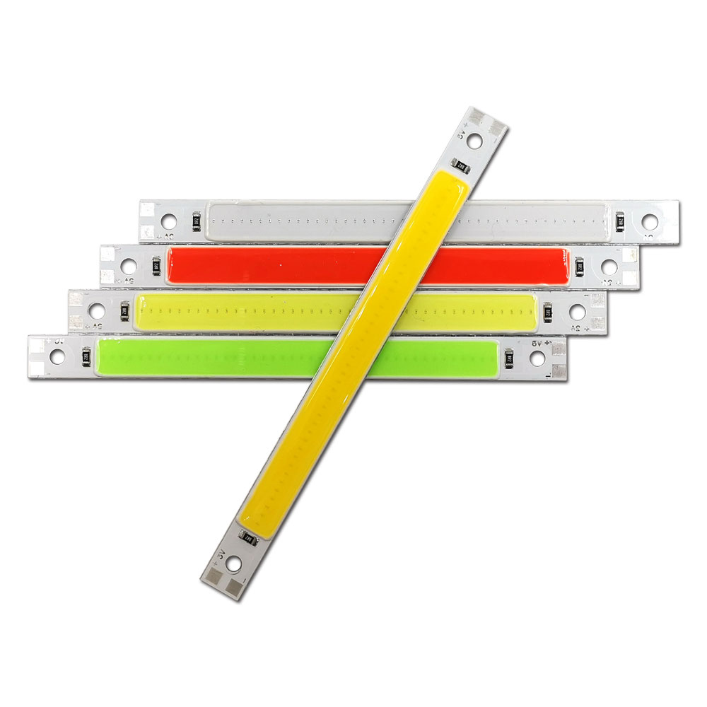 120MM 3V 5V COB LED Bar Lights Strip Battery USB Powered LED Chip Lamp For Reading Lights Work Lamps Red Blue White Green Colors