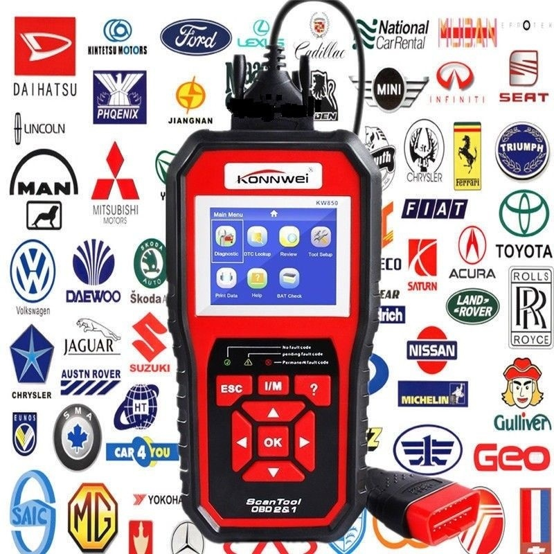 Car Auto Diagnostic Scanner Tool KW850 OBD II Automotive Car Code Reader Check Engine