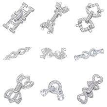 Juya DIY Perlen Ergebnisse Liefert Beadwork Schmuck Herstellung Komponenten Gold/Silber Farbe Verschluss Verschluss Schließe Zubehör
