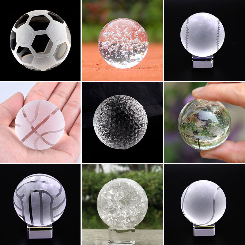 4cm Crystal Ball Glass Lens Sphere Fengshui Paperweight Crafts Photography Props Home Wedding Decor Ornaments Sports Souvenirs