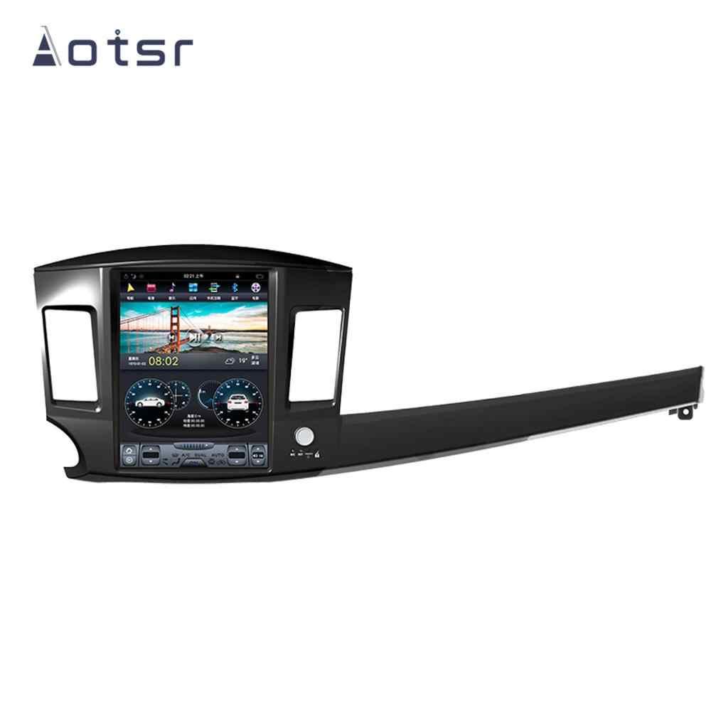 AOTSR Tesla สไตล์ Android 9 PX6 เครื่องเล่นรถสำหรับ Mitsubishi Lancer 2007-2017 GPS นำทางด้วย DSP CarPlay autostereo