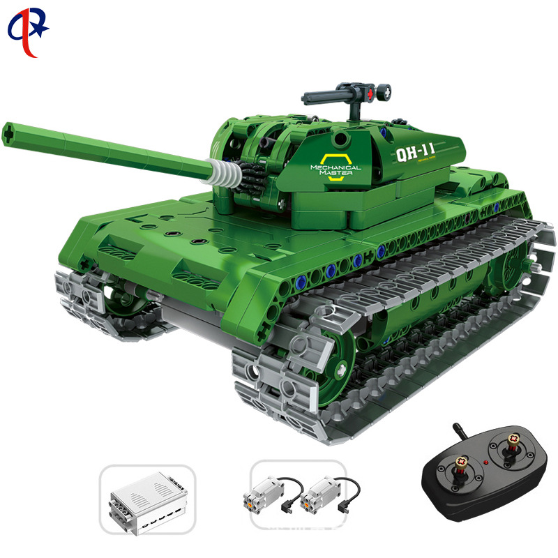 2.4G Remote Controlled Blocks Car 8011 Granule Building Blocks Tank Military Model Children'S Educational Toy