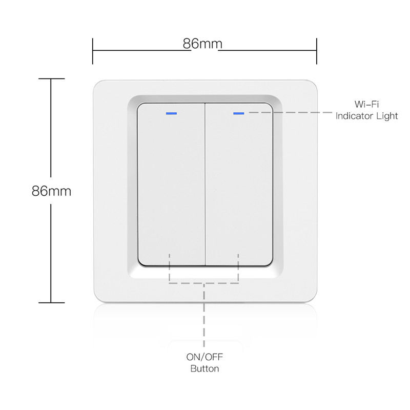 Image 5 - Wifi Smart Push Button Switch EU Standard 1/2/3 Gang Waterproof Remote Control For Led Light Smart Switch Alexa Google HomeSwitches   -